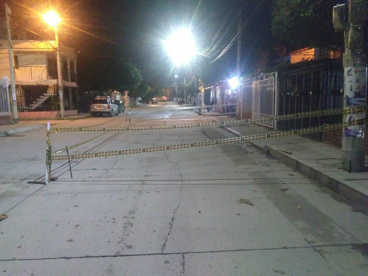 Sector afectado en Villa Alejandría.