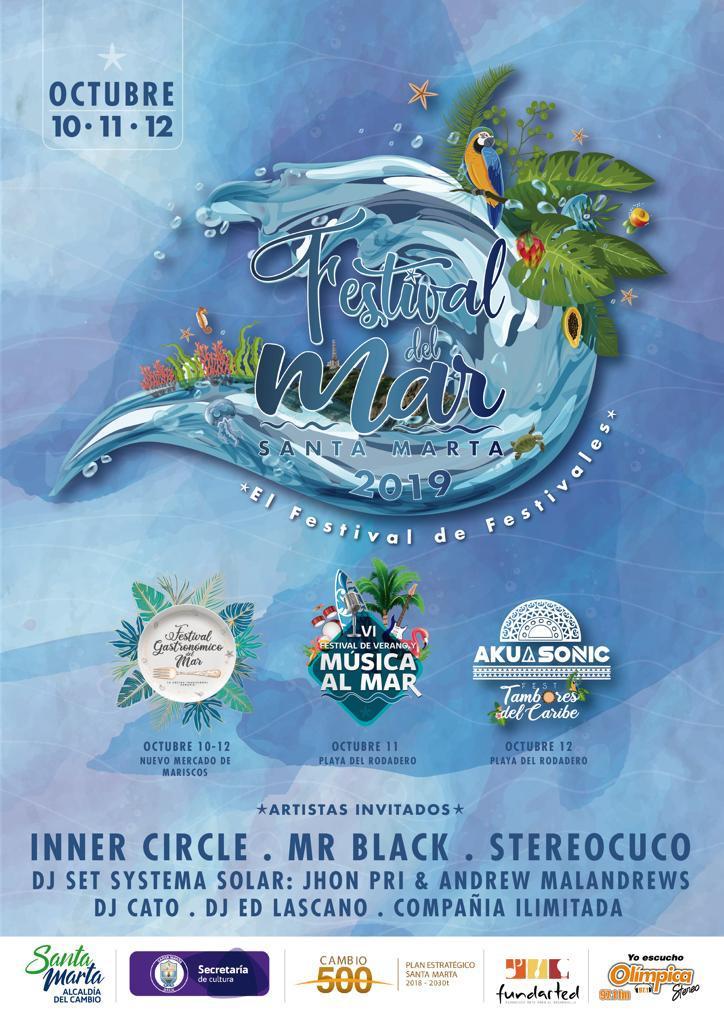 Afiche del Festival del Mar, festival de festivales.