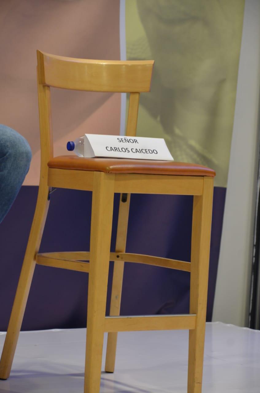 Carlos Caicedo dejó la silla vacía.