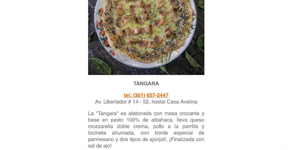 Concursante del Pizza Master en la ciudad de Santa Marta.