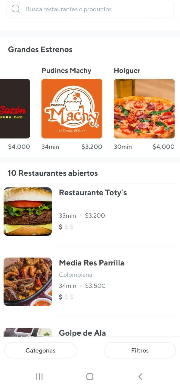 Restaurantes y negocios disponibles en Santa Marta