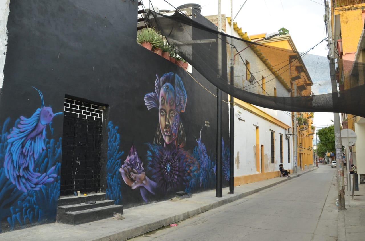 Mural  Diosa del Mar