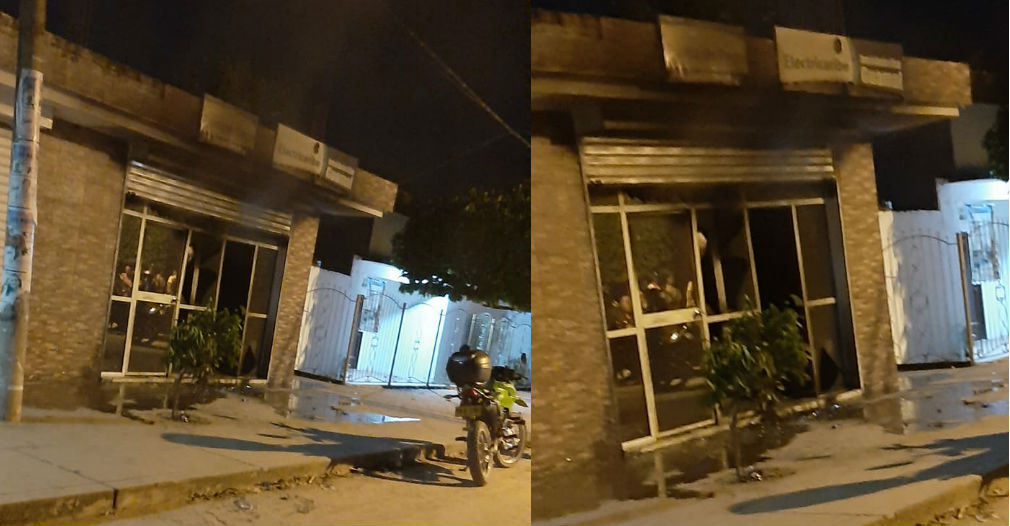 Una vez más: por fallas en el servicio, habitantes de Guamal incendiaron oficina de Electricaribe - Seguimiento.co