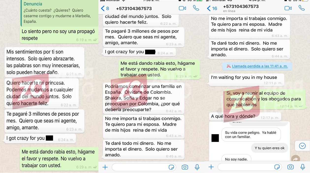Chat suministrados por la periodista a Zona Cero