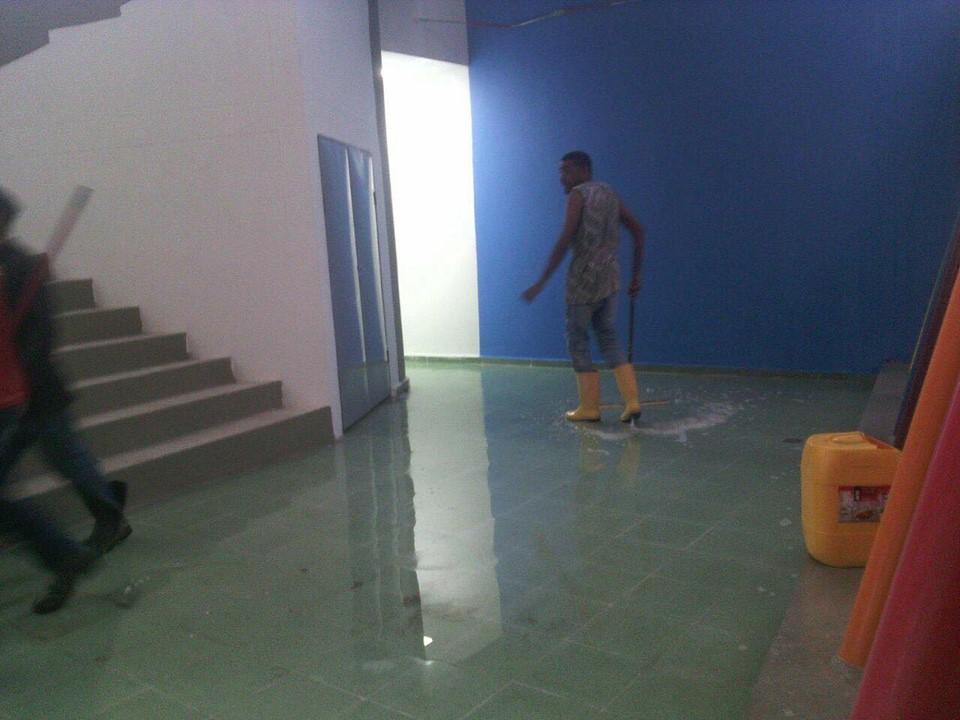 Estas fotos muestran el escenario inundado en 2017, durante los Juegos Bolivarianos.