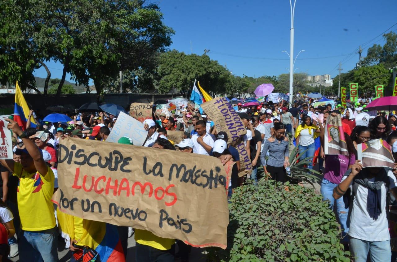 Protesta en Santa Marta