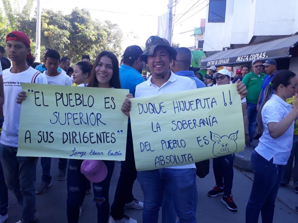 Estudiantes manifestantes