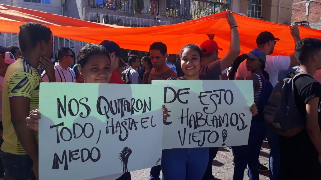 Manifestantes en la marcha del 21N