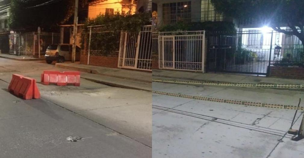Comparación del estado de la calle a un mes de la primera denuncia.