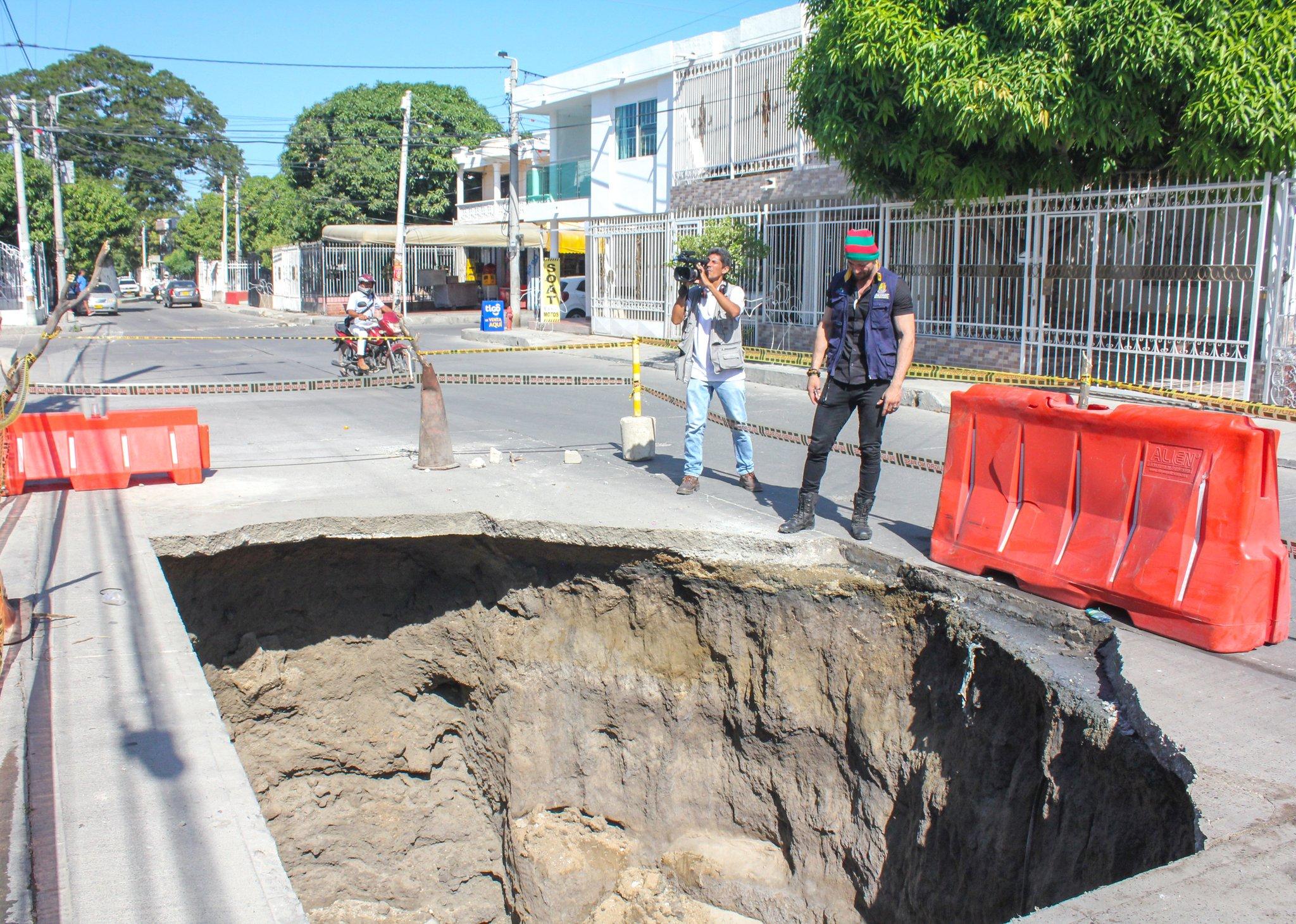 El director de la Ogricc, Jaime Avendaño, inspeccionó la zona afectada.
