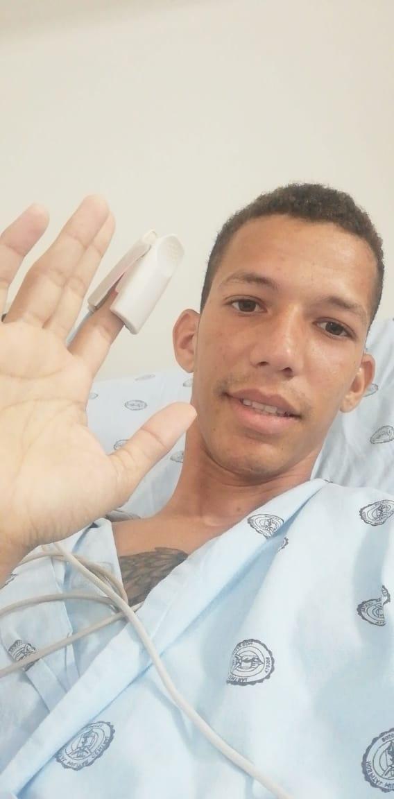 Hussepe Fuenmayor en el Hospital Militar de Bogotá.