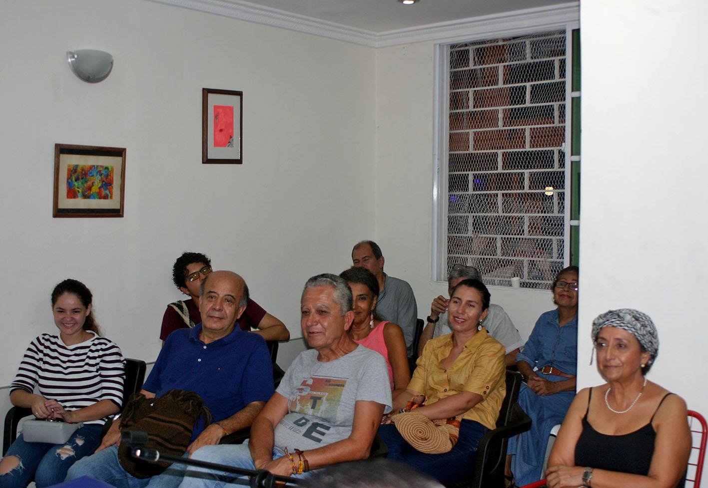Asistentes al encuentro de poesía en Santa Marta