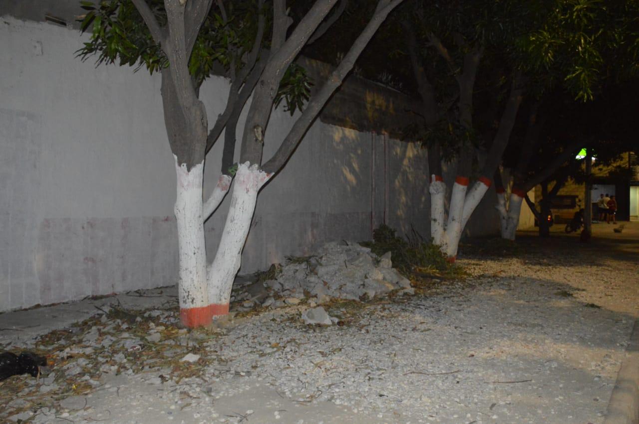 Lugar donde estaba Mariscos André, en una zona aledaña al Ocean Mall.