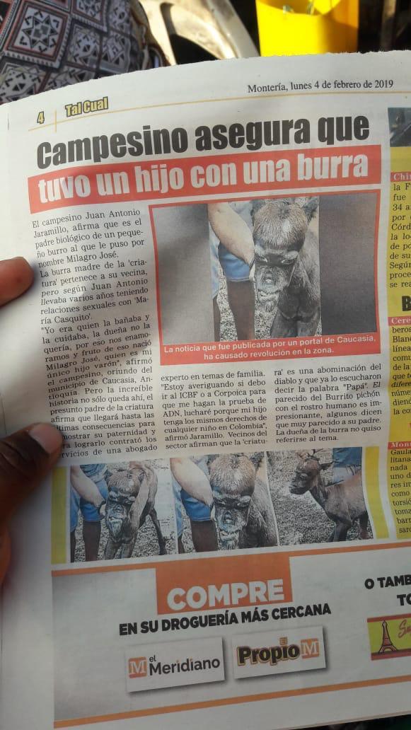 La imagen del periódico circula en Whatsapp y fue verificada por Seguimiento.co: sí la publicó el Propio, en Montería.