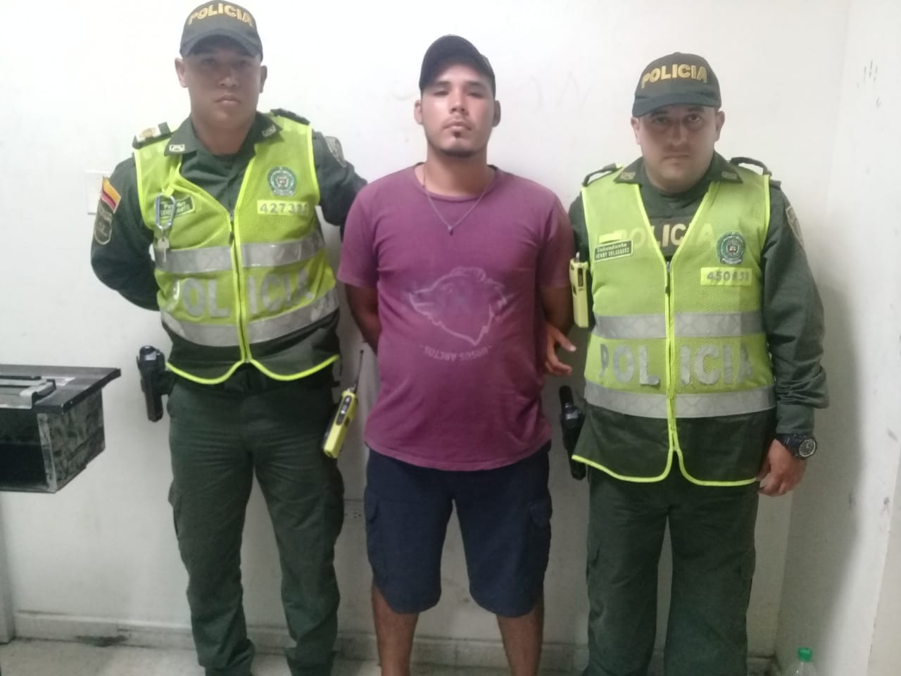 Wilson Sanabria, capturado en Gaira por porte de estupefacientes