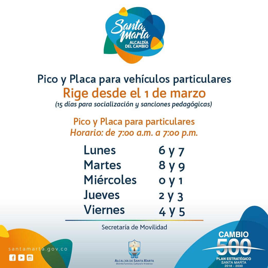 Pico y Placa 2019