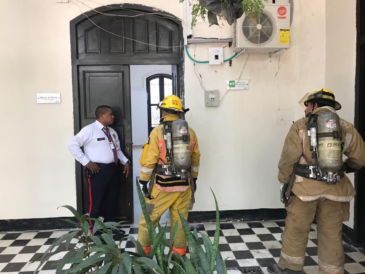 Los bomberos tuvieron que ir a controlar la fuga de gas.