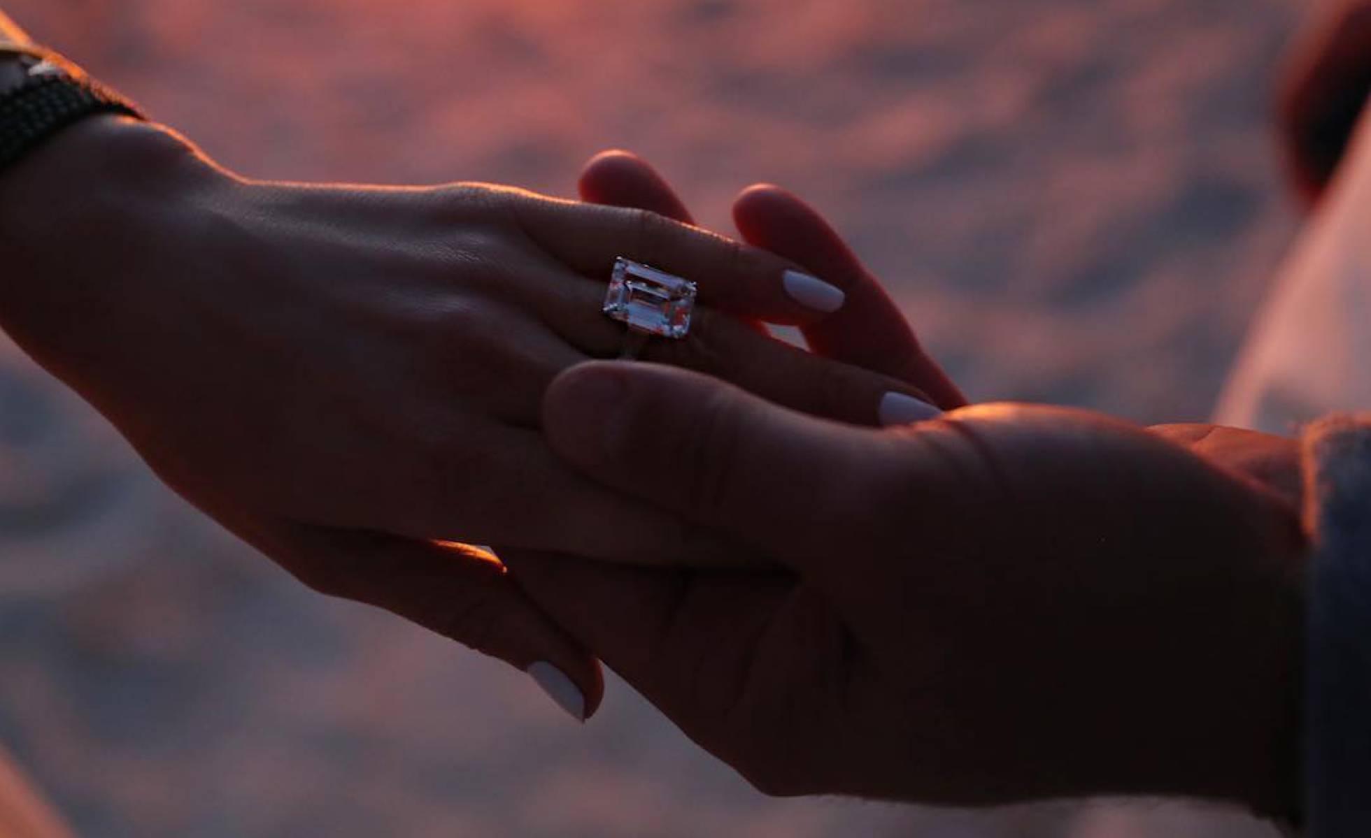 Esta es la imagen con la que la pareja anunció su matrimonio.