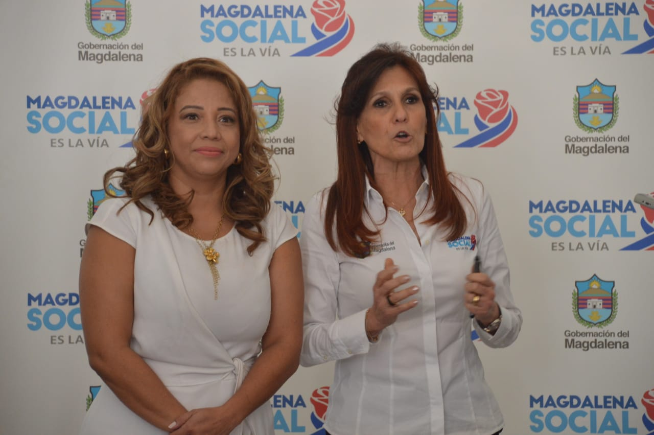 Norma Vera Salazar, nueva secretaria de gobierno del Magdalena y la gobernadora Rosa Cotes