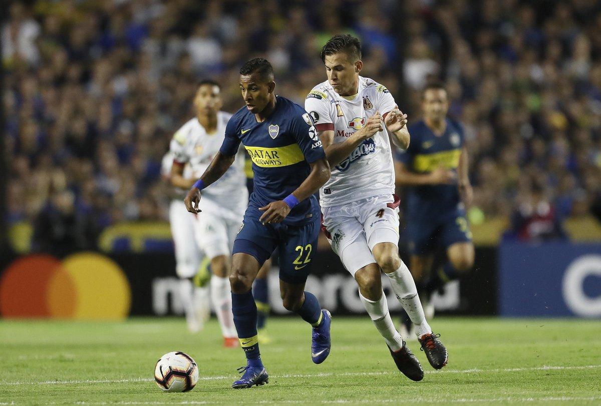 El conjunto argentino goleó al Tolima en la segunda jornada de la fase de grupos de la Libertadores.