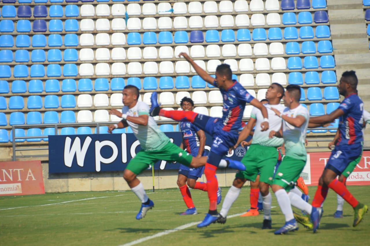 Acción del partido entre Unión y Barranquilla F.C.