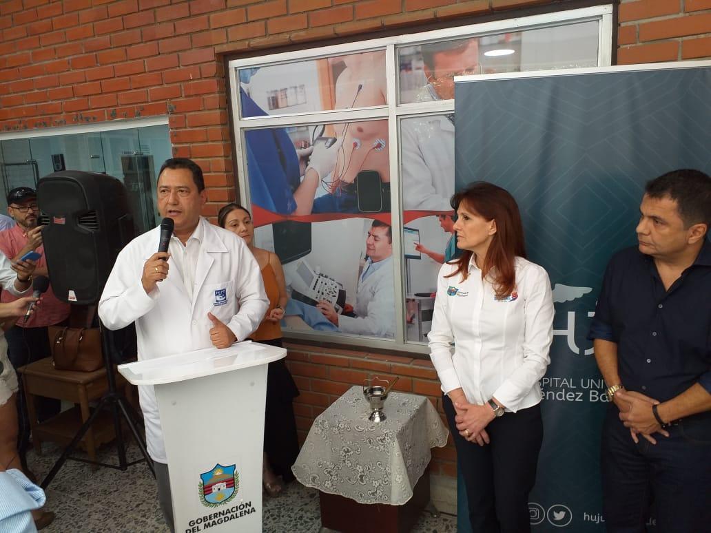 El Gerente señaló que de no llegarse a presentar inconvenientes en la fase dos del proyecto, los magdalenenses tendrá hospital para las operaciones de corazón abierto.