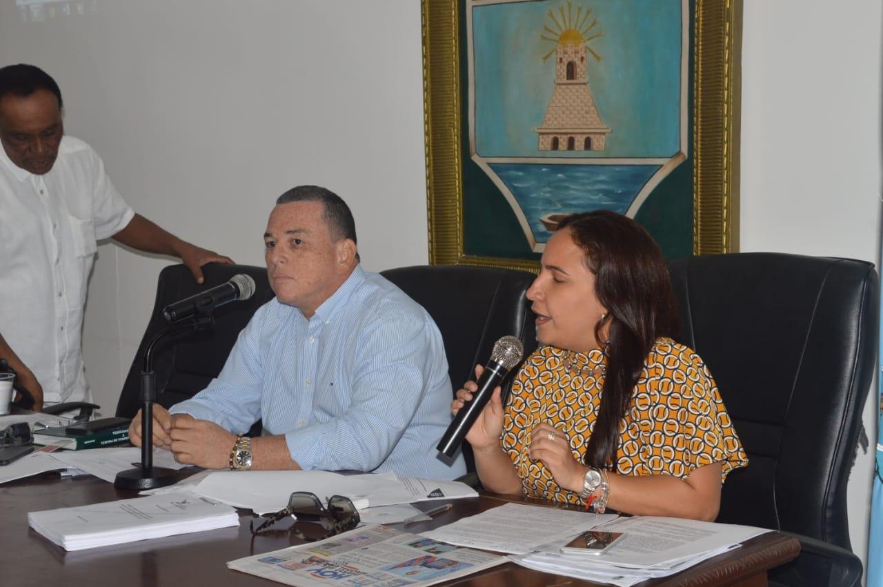La concejal Elizabeth Molina proyectó el video en el recinto del Concejo.