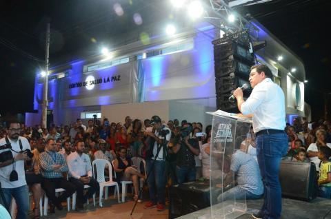 Inauguración del centro de salud de La Paz