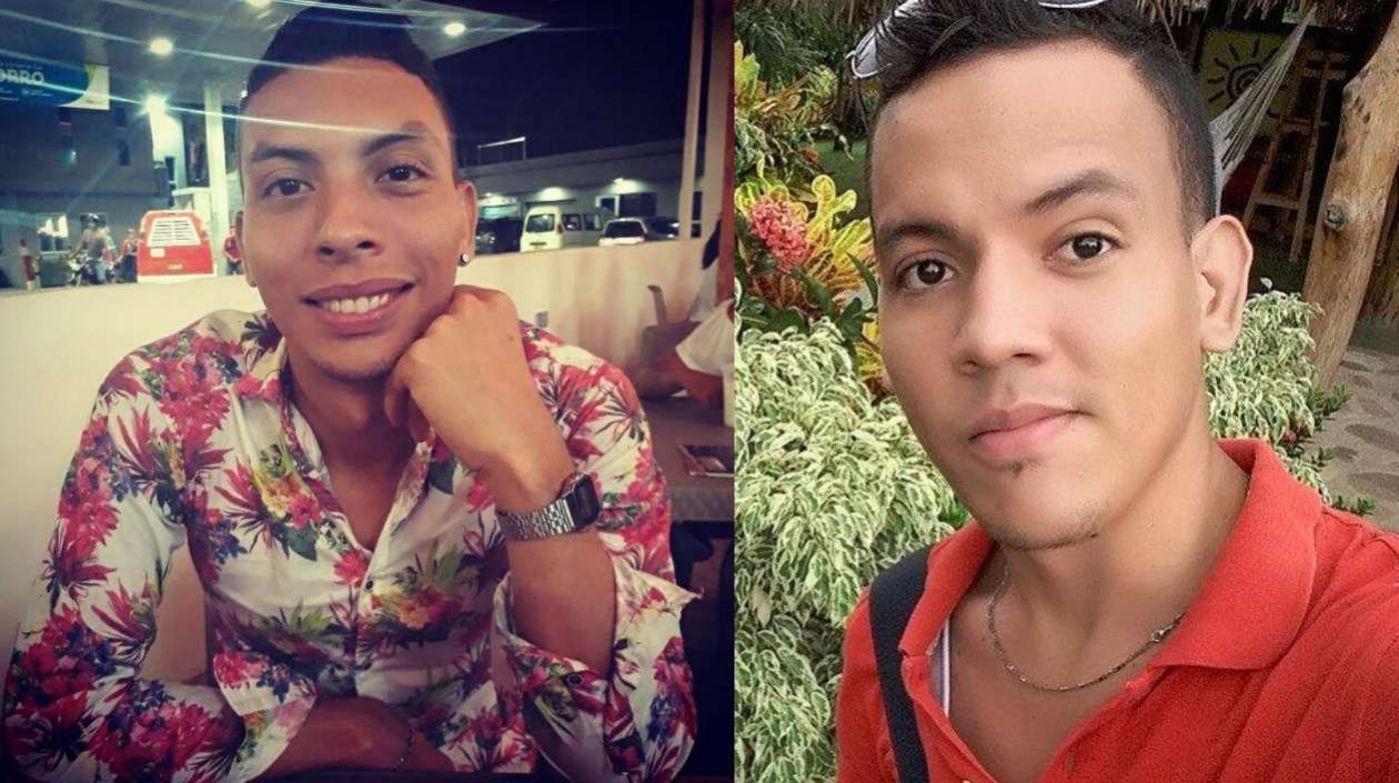 A la izquierda, la víctima mortal Jesús Alberto Sánchez Pallares, y Geany David Fontalvo Orozco, su presunto victimario.