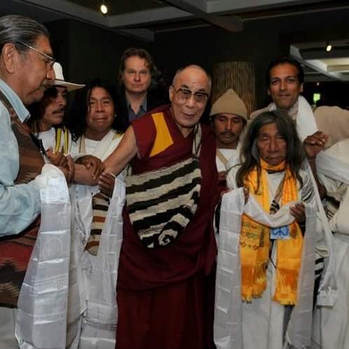 El mamo Jacinto con el Dalai Lama.