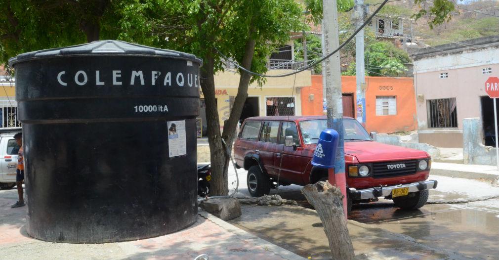 En San Jorge han instalado tanques de 10 mil litros.
