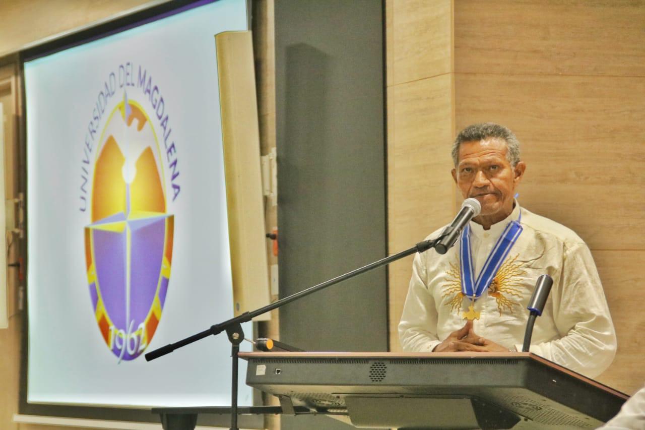 Ariel Daniels de Andréis, cabildo gobernador indígena de Taganga.