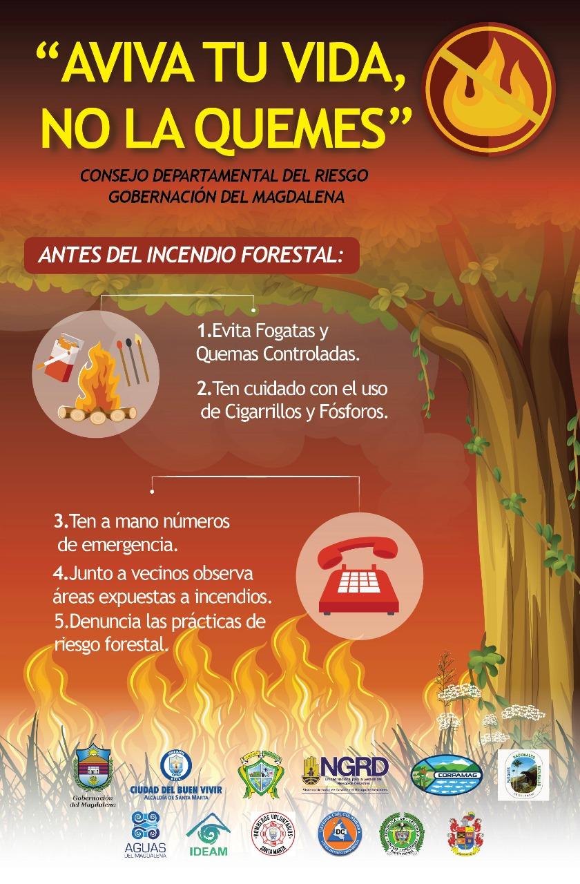 Este es el ejemplo de las campañas informativas que está usando la Gobernación del Magdalena.