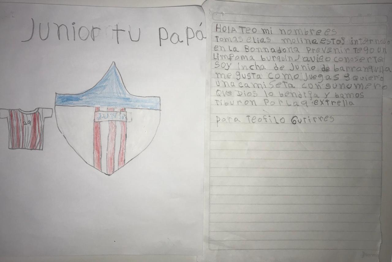 Carta que le dedicó Tomás a Teófilo.