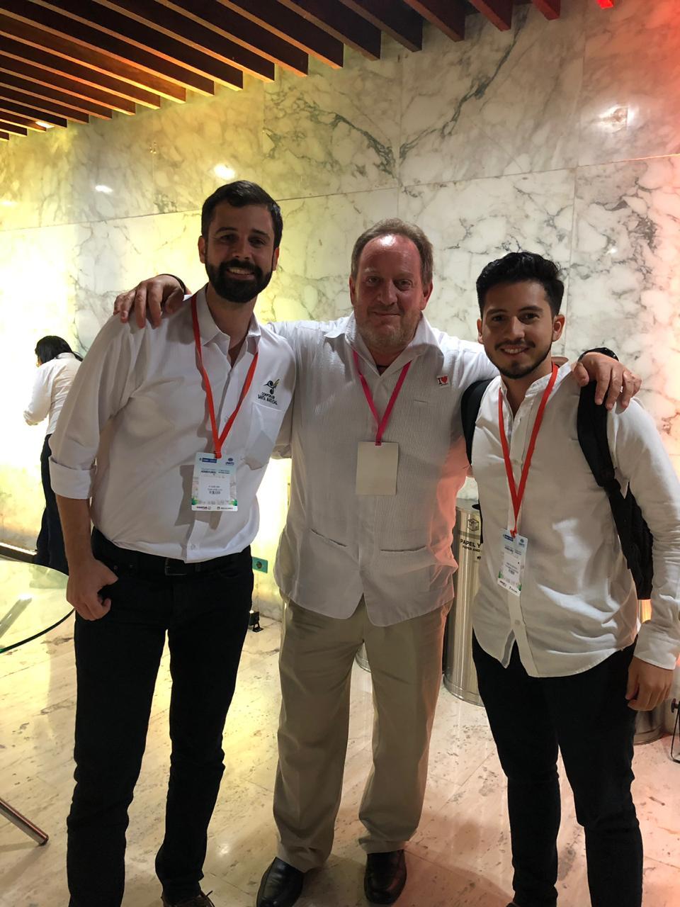Erick Navarro, Carlos Jaramillo y Marcus Dantus de Shark Tank México.