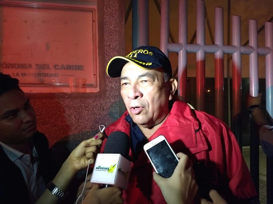 Jaime Pérez, Comandante del Cuerpo de Bomberos.