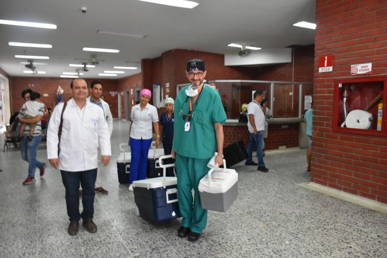 El procedimiento se llevó a cabo en la mañana de este martes en las en las instalaciones del hospital universitario.