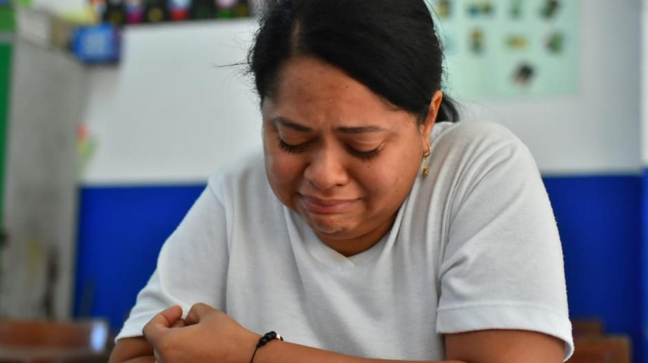 Shirley Pardo llora desconsolada la muerte de María José.
