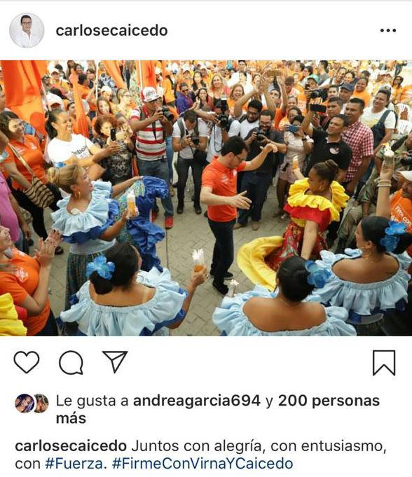 Este fue el post que Carlos Caicedo publicó en su Instagram y que posteriormente eliminó.