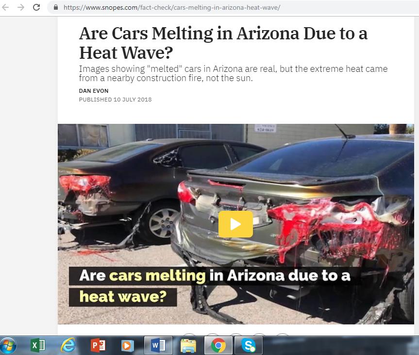 Captura de la noticia que utilizó las mismas imagenes en el 2018