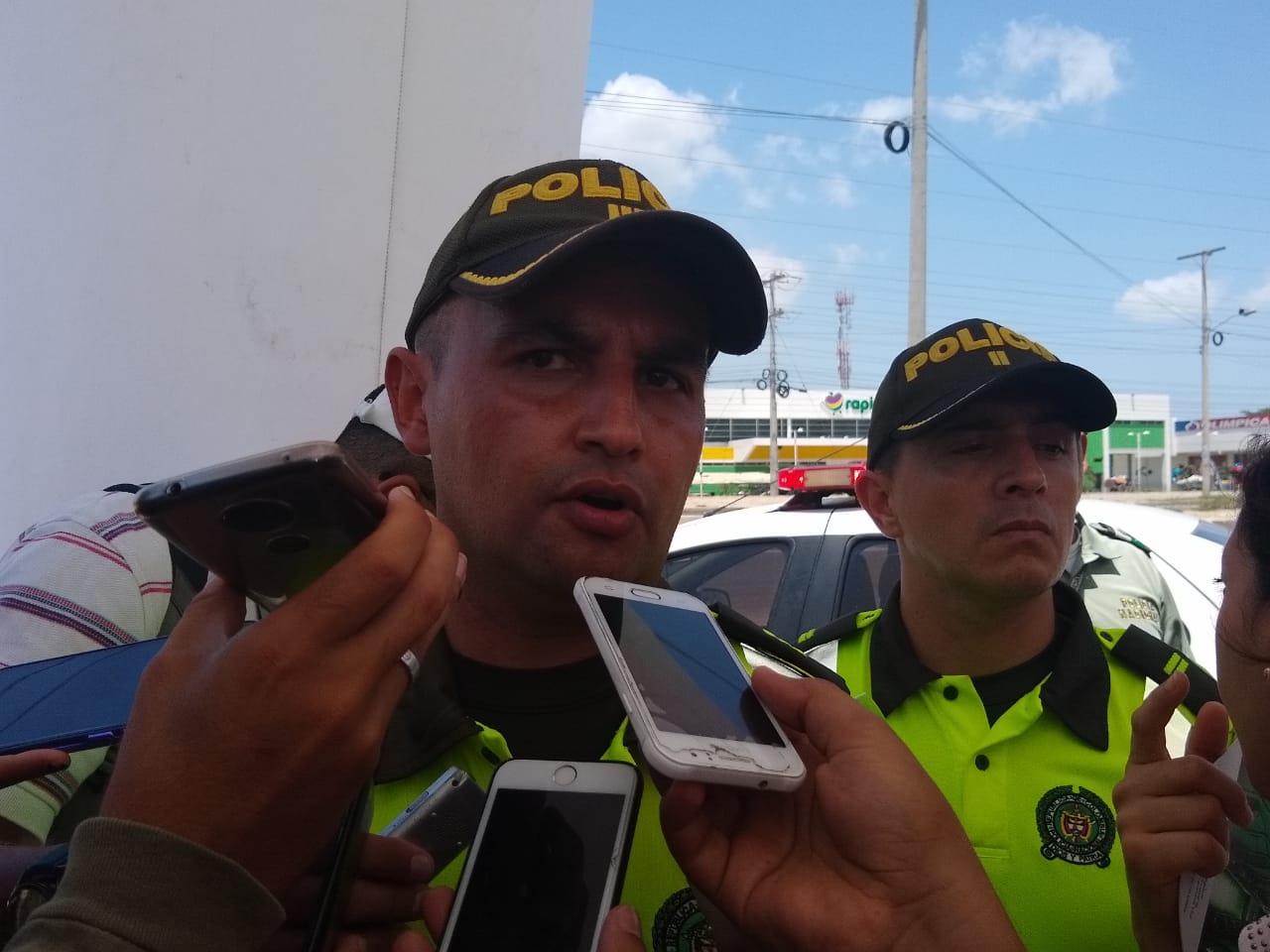 El jefe de la seccional de Tránsito y Transporte de la Policía Metropolitana, capitán Jorge Larrota.