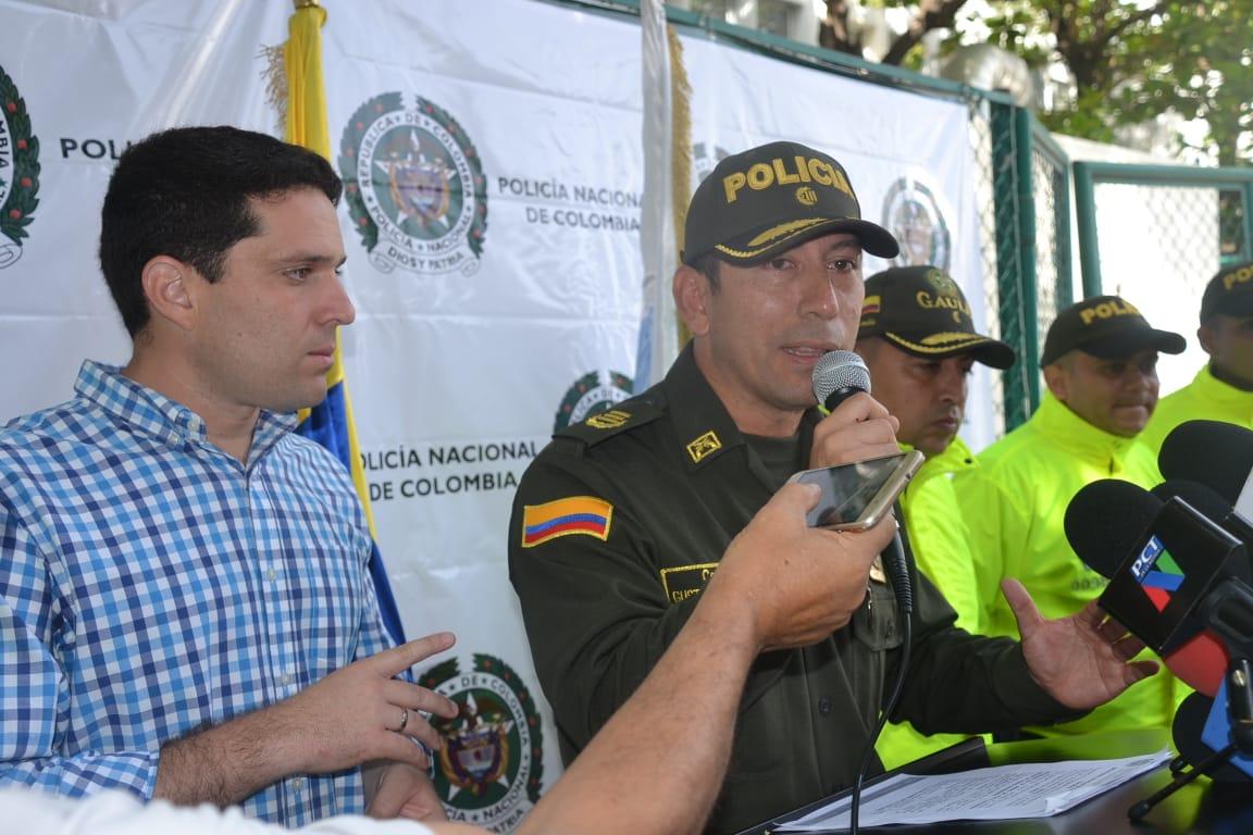 Intervención del coronel Gustavo Berdugo, durante una rueda de prensa.