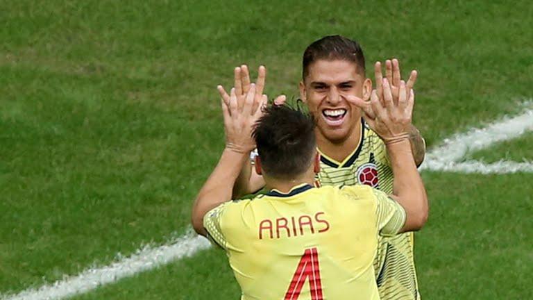 Cuéllar celebra el gol.