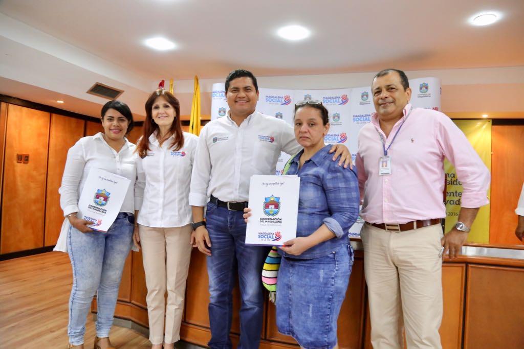 La administración también ha trabajado para legalizar la situación de predios de 627 familias de un sector de Santa Marta
