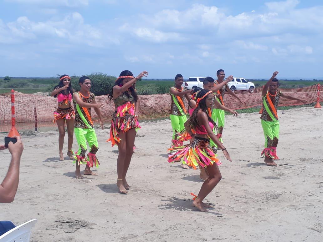Muestra de danza en SitioNuevo, Magdalena