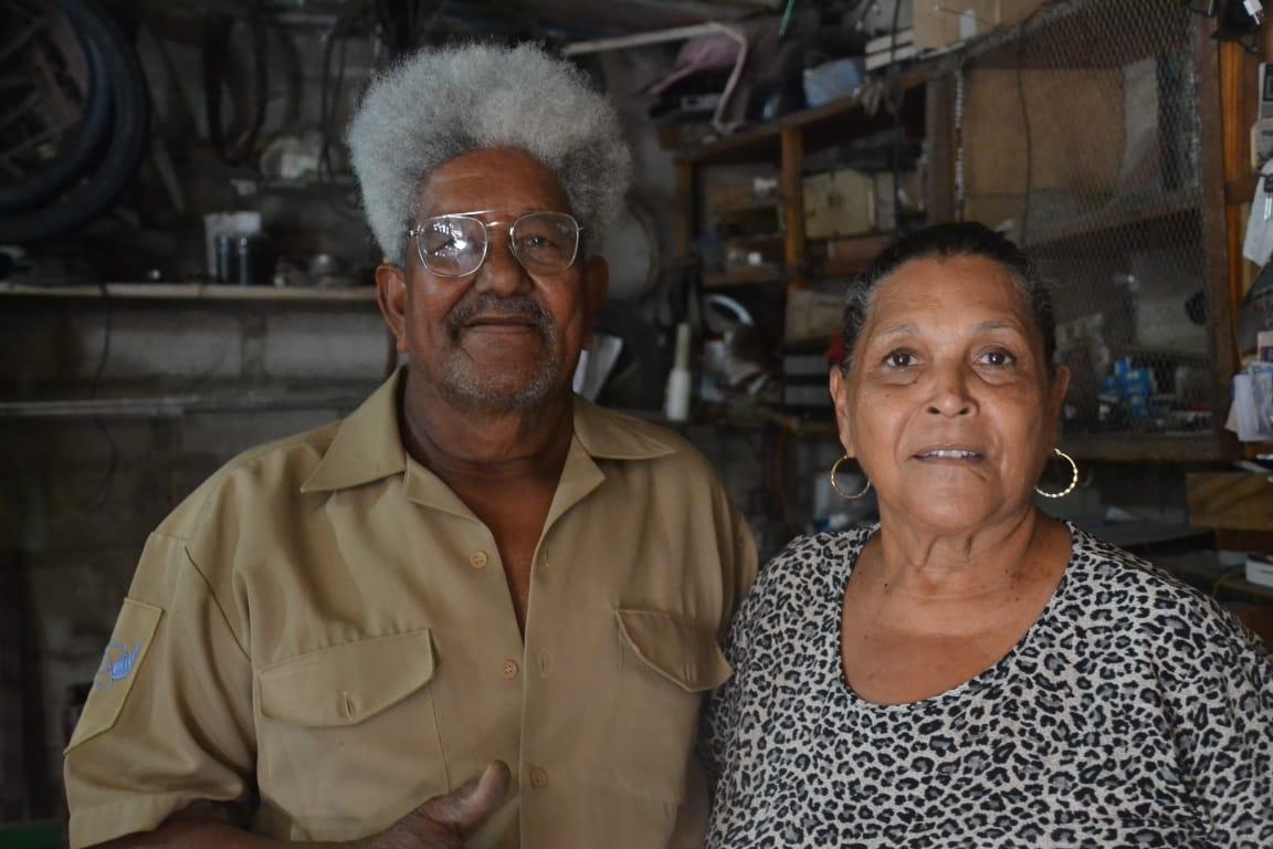 Balín y su esposa Ledys Victoria Hernández