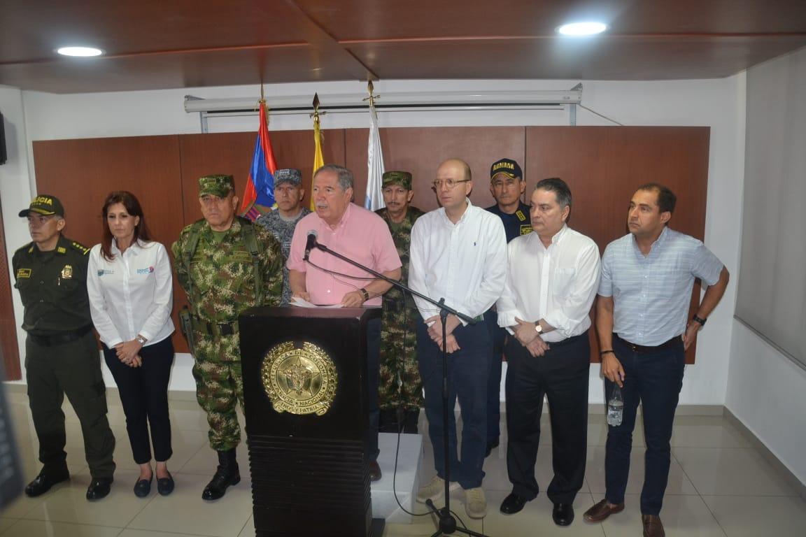 El Ministro de Defensa se reunió con las autoridades de Santa Marta y el Magdalena.