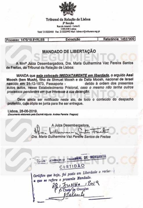 Carta de libertad de Assi Mosh.