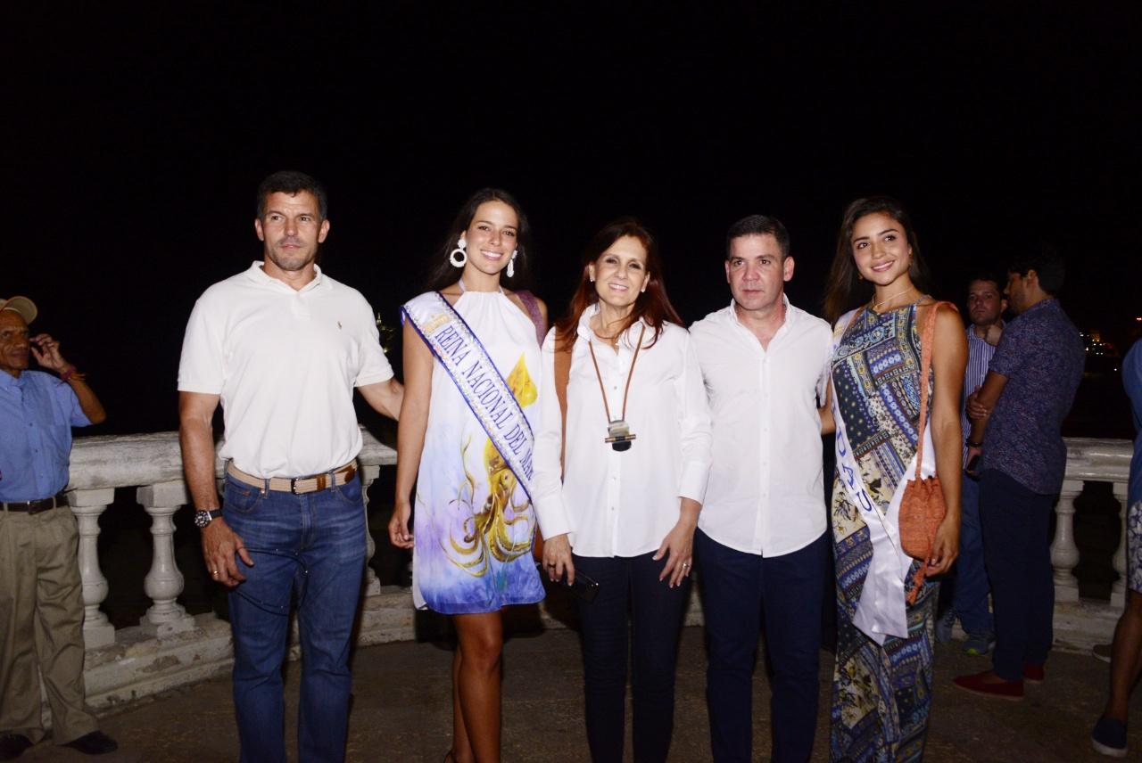 La Gobernadora y el Gerente de la Essmar lideraron el evento de iluminación de El Morro.