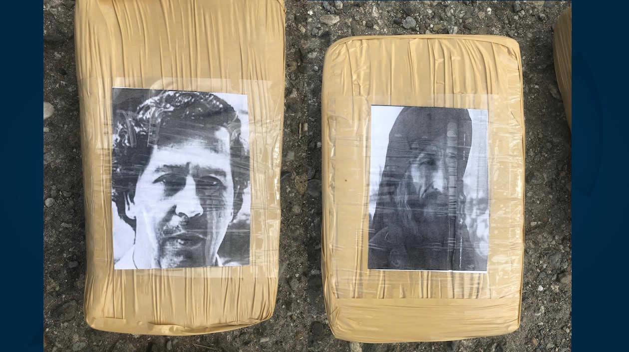Los paquetes estaban marcados con las caras de Escobar y Bin Laden.